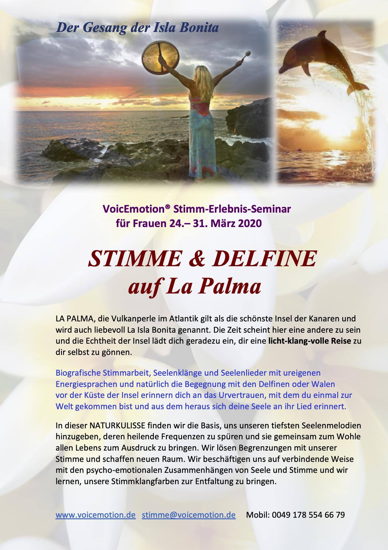 STIMME & DELFINE auf La Palma